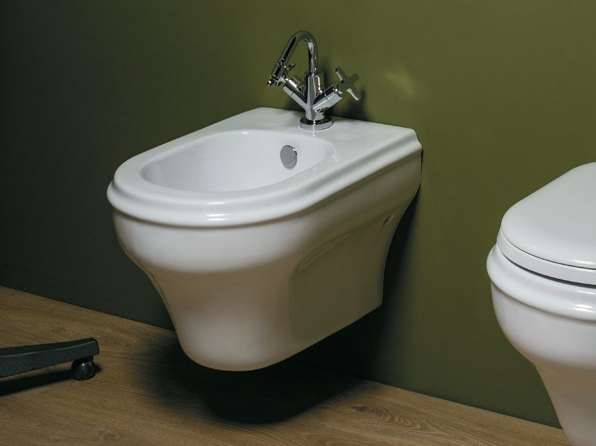 Wall-hung ceramic bidet CHARME | Wall-hung bidet by AZZURRA sanitari