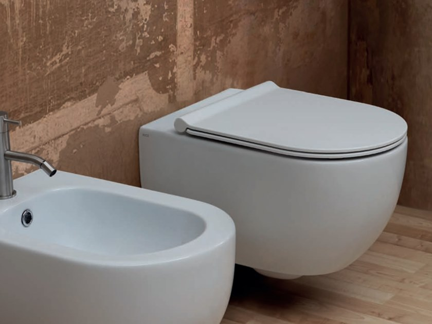 Wall-hung ceramic toilet UNICA | Wall-hung toilet by Alice Ceramica
