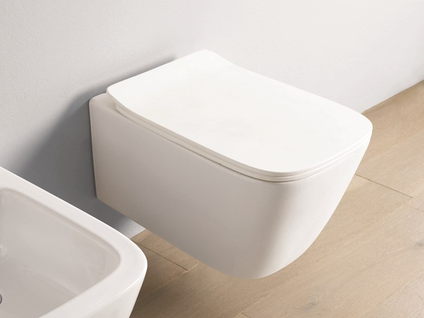 Wall-hung ceramic toilet A16 | Wall-hung toilet by Artceram