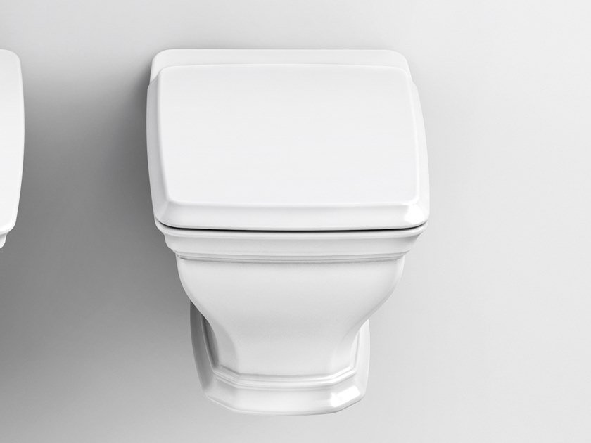 Wall-hung ceramic toilet CIVITAS | Wall-hung toilet by Artceram