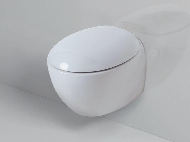 Wall-hung ceramic toilet CLAS+ | Wall-hung toilet by AZZURRA sanitari