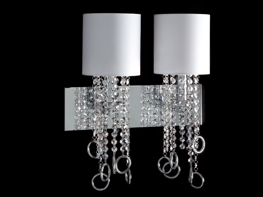 Wall lamp with crystals LISA | Wall lamp by Aiardini