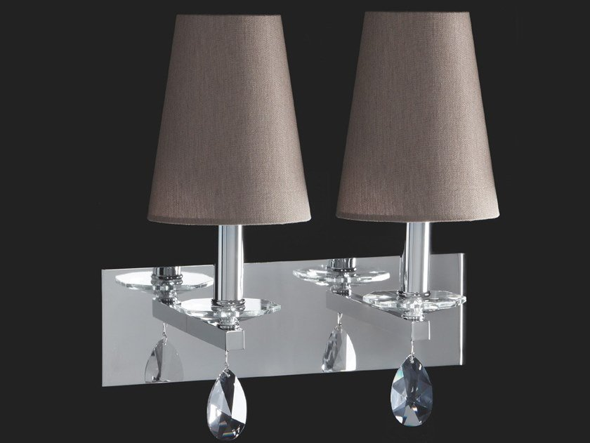 Wall lamp with crystals OTTAGONO | Wall lamp by Aiardini
