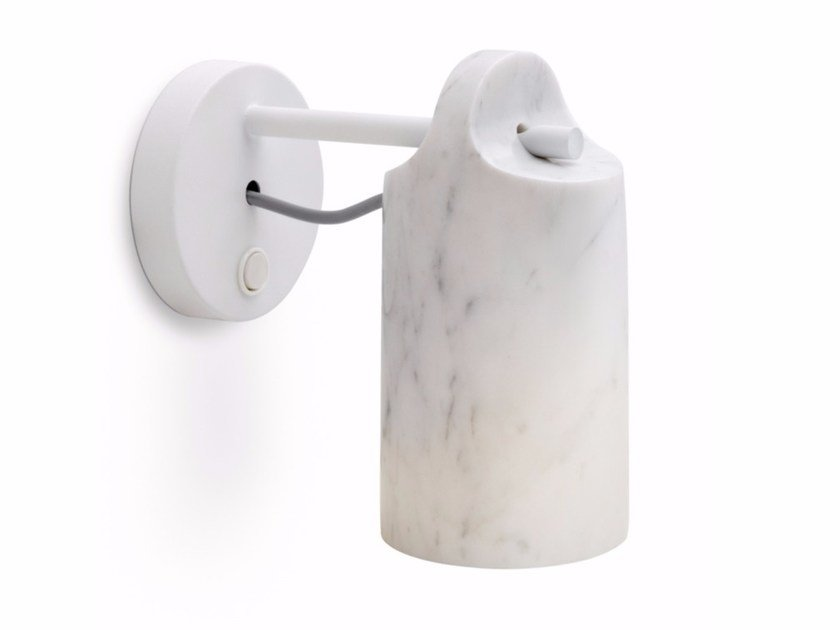 LED adjustable Carrara marble wall lamp PAROS | Wall lamp by ALMA LIGHT