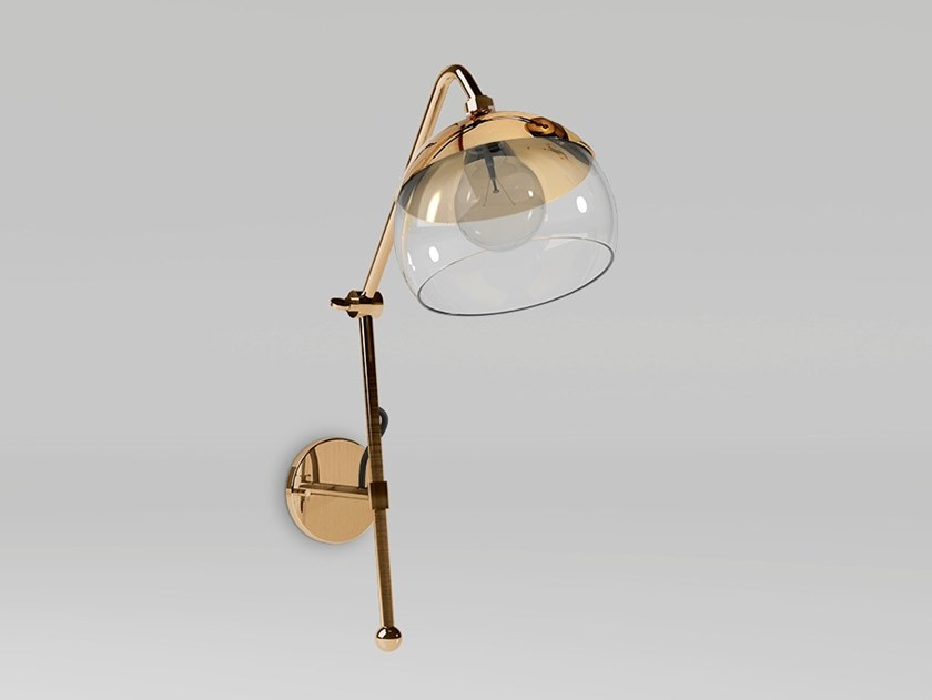 Brass wall lamp with swing arm BRUSSELS | Wall lamp by Emotional Projects