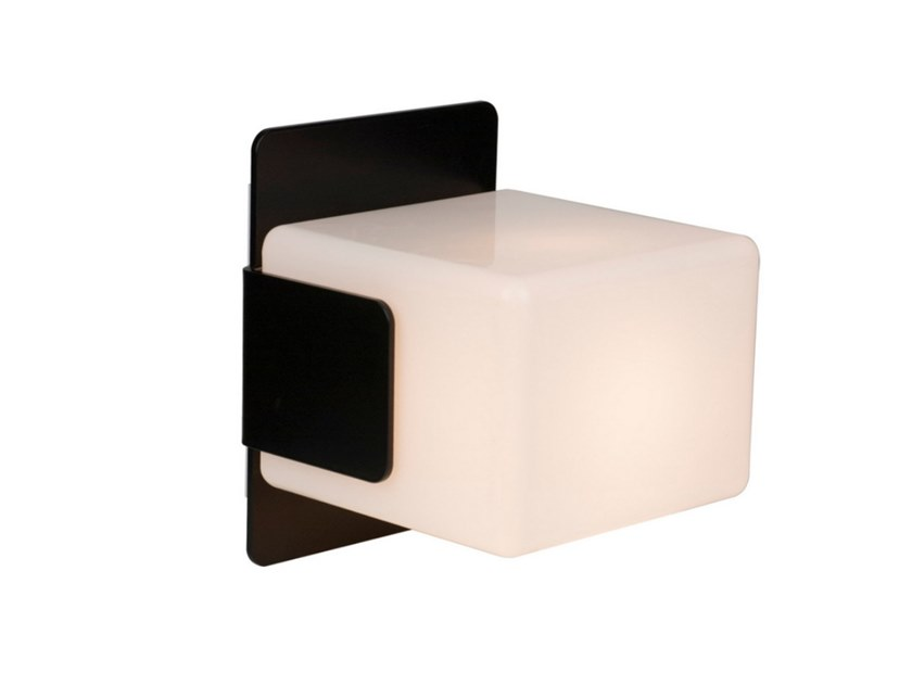 Applique a led in acciaio e vetro cube lampada da parete inventive
