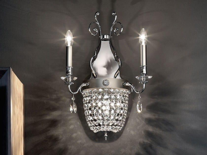 Direct light crystal wall lamp ELEGANTIA | Wall lamp by Masiero