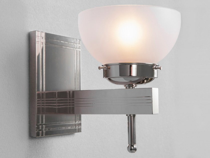 Direct light handmade nickel wall lamp NEW YORK II | Wall lamp by Patinas Lighting