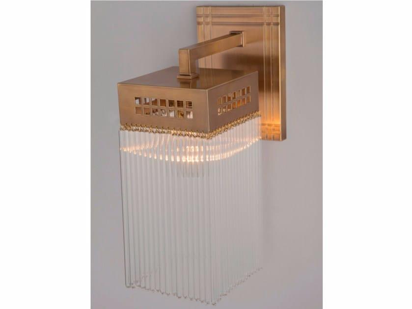 Lampada da parete a luce diretta fatta a mano in ottone HOFFMANN IV | Lampada da parete by Patinas Lighting