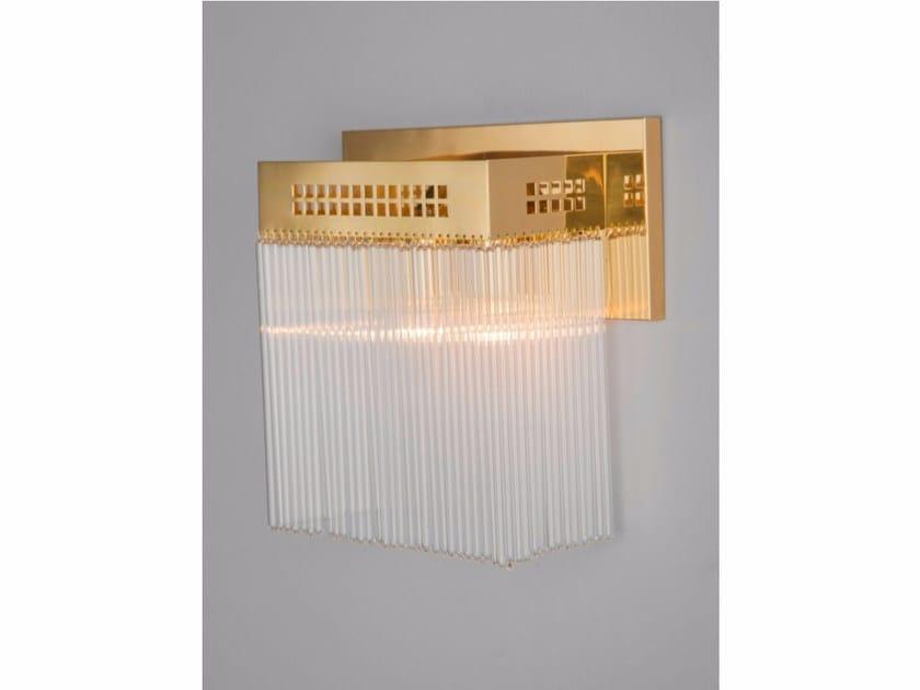 Lampada da parete a luce diretta fatta a mano in ottone HOFFMANN | Lampada da parete by Patinas Lighting