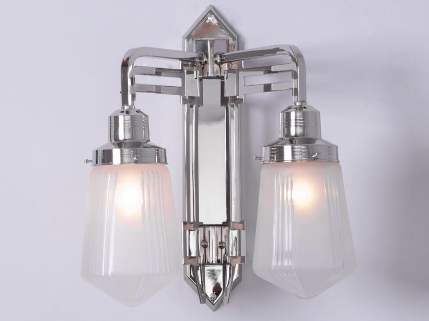 Lampada da parete a luce diretta fatta a mano in nichel HOFFMANN II   Lampada da parete by Patinas Lighting