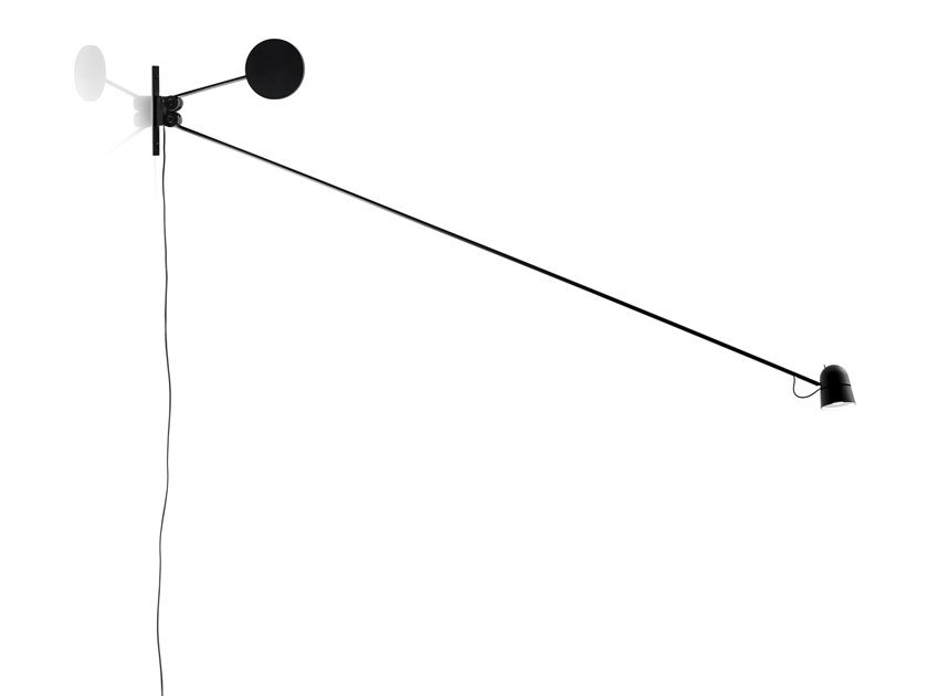 LED adjustable aluminium wall lamp COUNTERBALANCE | Wall lamp by LUCEPLAN