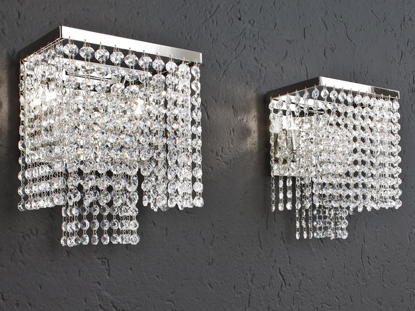 Wall light with crystals KRISTAL | Wall light by Adriani e Rossi edizioni