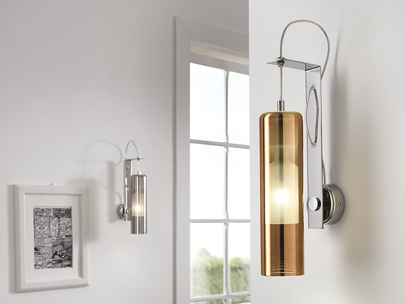 LED direct light blown glass wall light TAO | Wall light by Cangini & Tucci