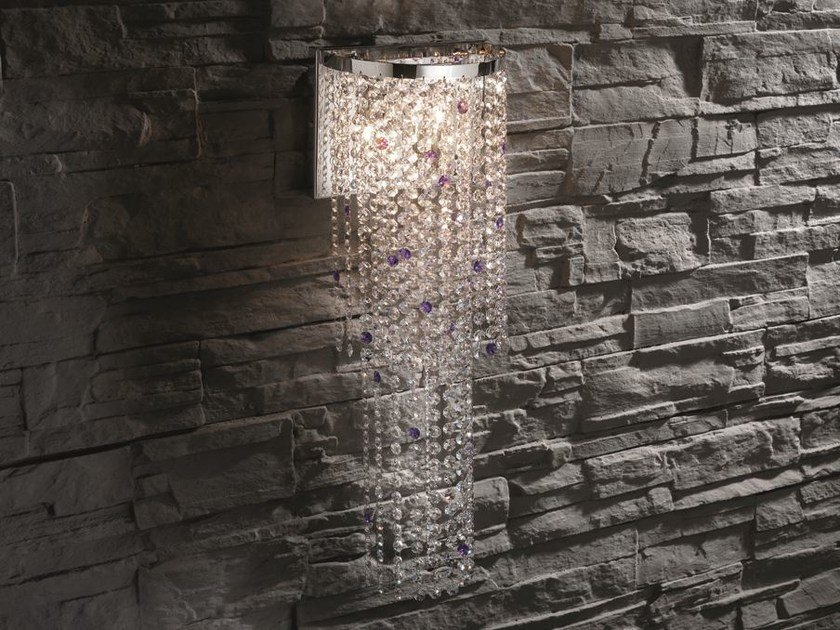 Wall light with crystals STARS A2 by Euroluce Lampadari