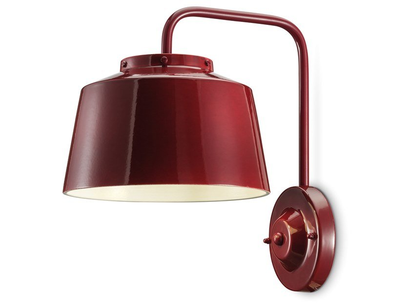 Ceramic wall light with fixed arm 50'S | Wall light by FERROLUCE