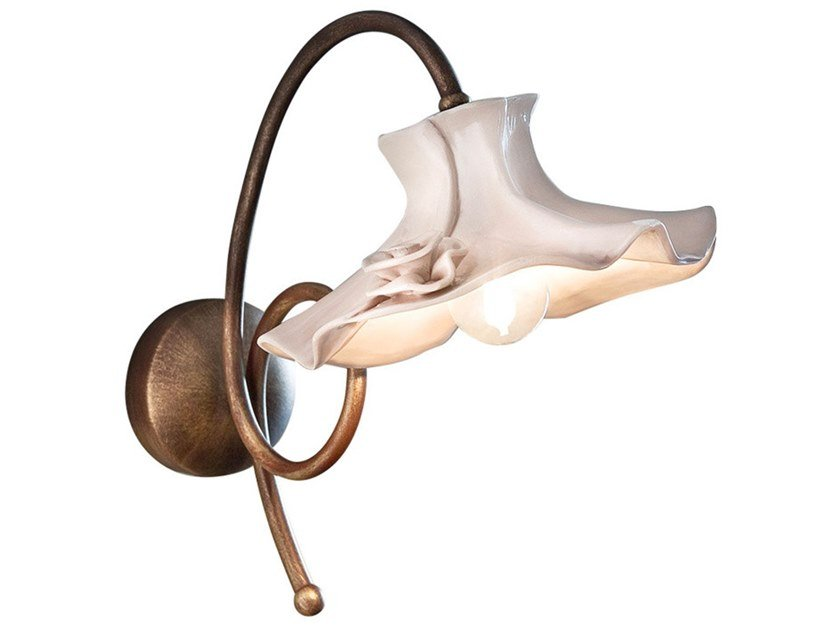 Ceramic wall light with fixed arm LECCO   Wall light by FERROLUCE