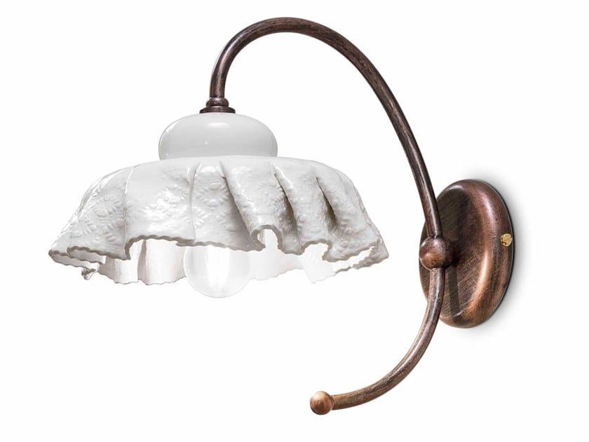 Ceramic wall light with fixed arm MODENA   Wall light by FERROLUCE