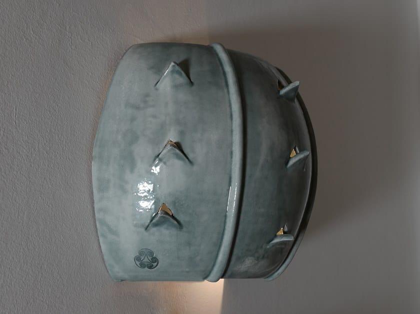 Applique a luce diretta e indiretta in ceramica CACTUS | Applique by Cerasarda