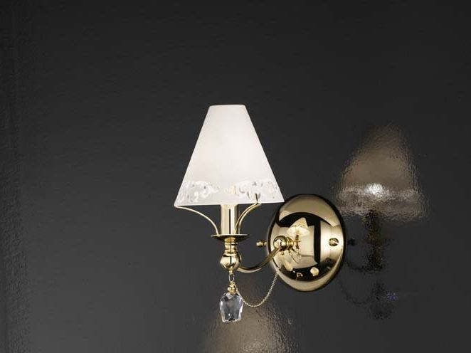Direct-indirect light satin glass wall light FOSCA | Wall light by IDL EXPORT