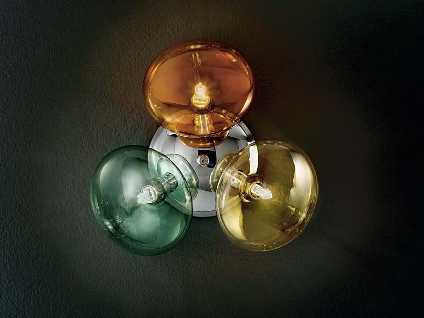 Direct light Pyrex® wall light MOIRA | Wall light by IDL EXPORT