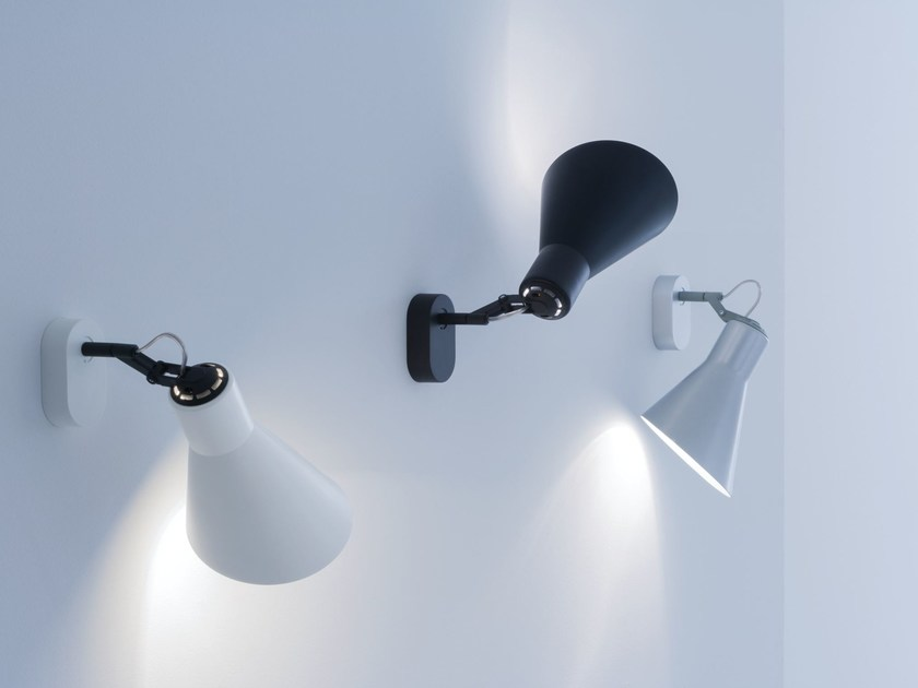 Adjustable painted metal wall light TAIA | Wall light by Lucente