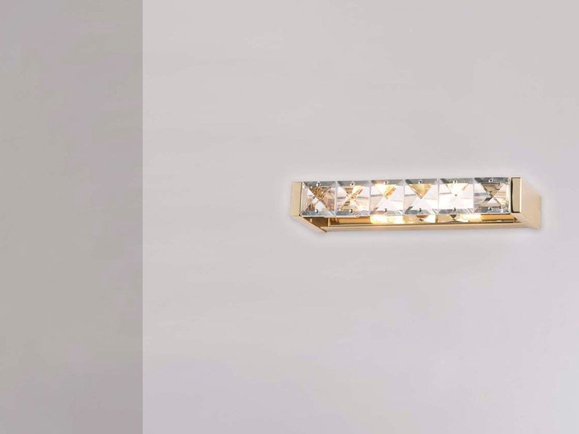 Metal wall light with crystals LYRA | Wall light by Marchetti