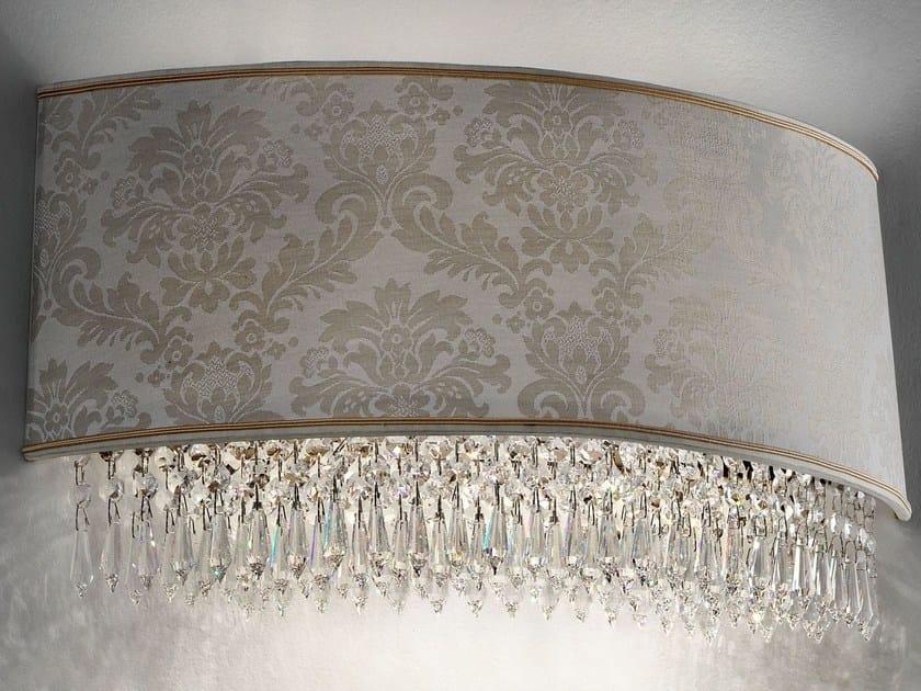 Applique a luce diretta e indiretta in cristallo in stile classico GLASSÉ | Applique by Masiero