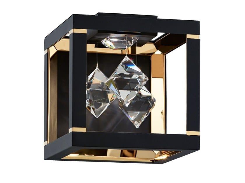 LED wall light with Swarovski® crystals FYRA   Wall light by Swarovski