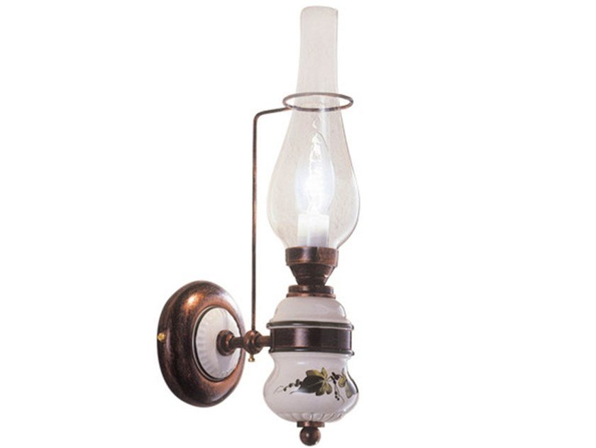 Ceramic wall light with fixed arm POMPEI   Wall light with fixed arm by FERROLUCE