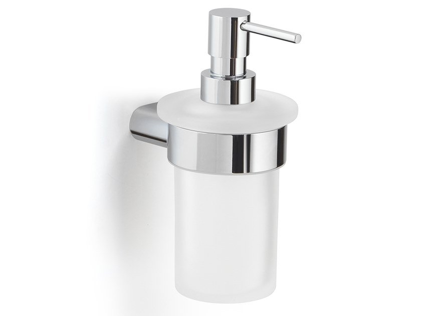 Wall-mounted satin glass Bathroom soap dispenser AZZORRE   Wall-mounted Bathroom soap dispenser by GEDY