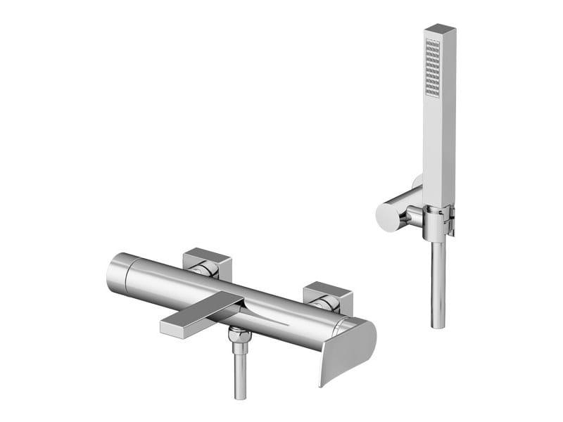 External bathtub mixer with hand shower SOFFIO   Wall-mounted bathtub mixer by Gattoni Rubinetteria