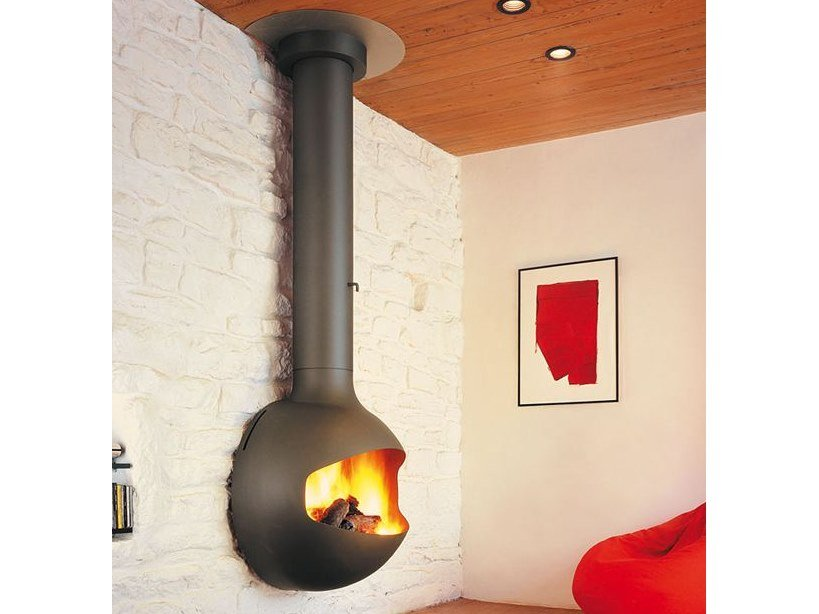 Open wall-mounted fireplace EMIFOCUS | Open fireplace by Focus creation