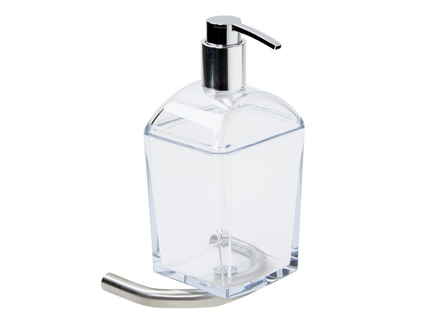 Wall-mounted stainless steel liquid soap dispenser TRATTO | Wall-mounted liquid soap dispenser by KOH-I-NOOR