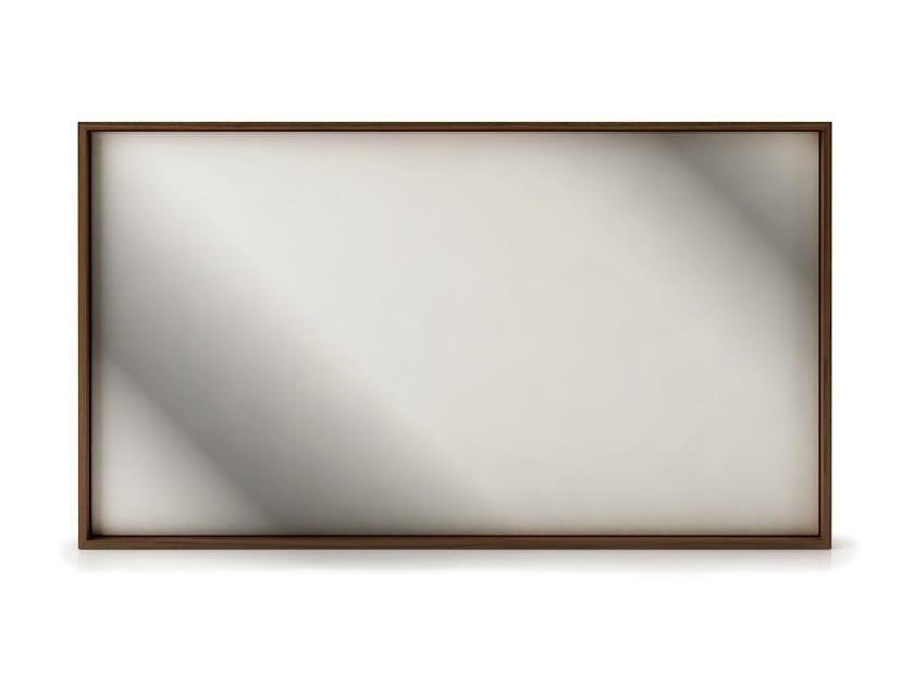 Rectangular framed wall-mounted mirror SWAN   Wall-mounted mirror by Huppé
