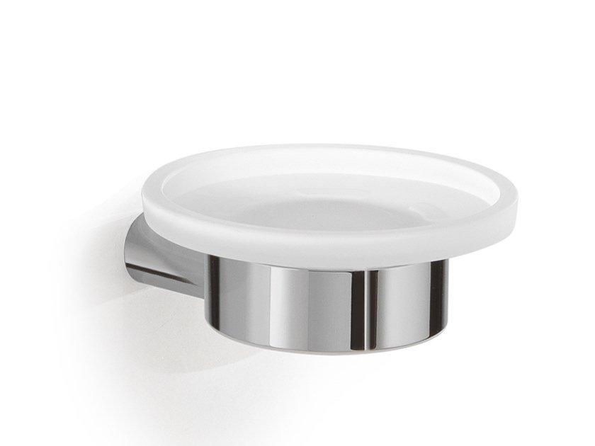 Wall-mounted glass soap dish AZZORRE | Wall-mounted soap dish by GEDY