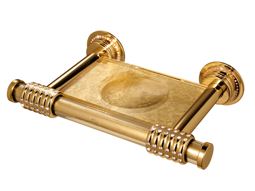 Wall-mounted brass soap dish LEONE   Wall-mounted soap dish by LINEAG
