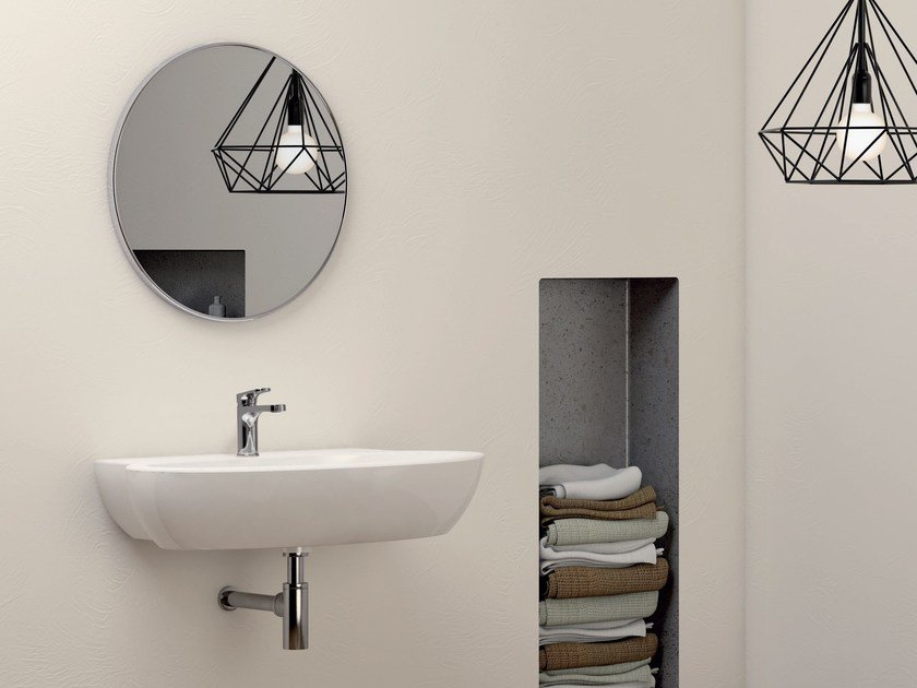 Wall-mounted ceramic washbasin COMODA | Wall-mounted washbasin by AZZURRA sanitari