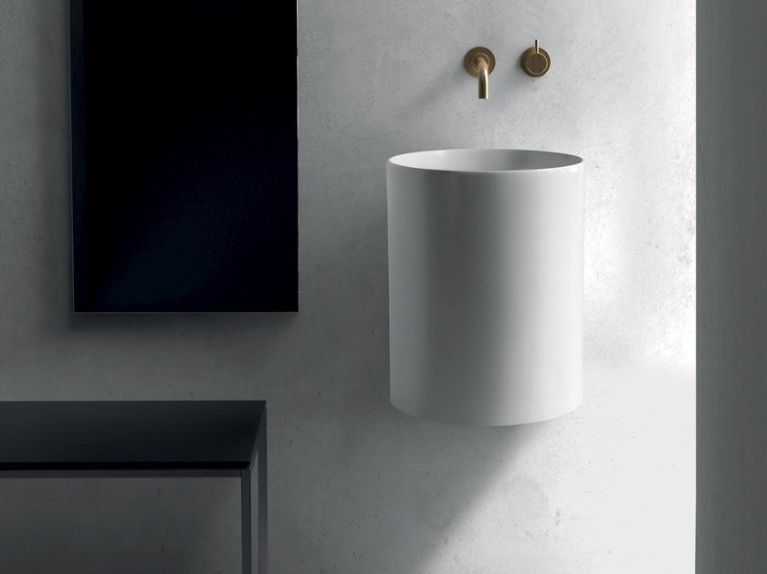 Wall-mounted ceramic washbasin CORE | Wall-mounted washbasin by GALASSIA