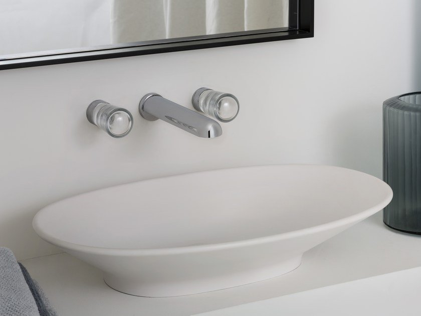 3 hole wall-mounted washbasin tap NUDE | Wall-mounted washbasin tap by ZUCCHETTI