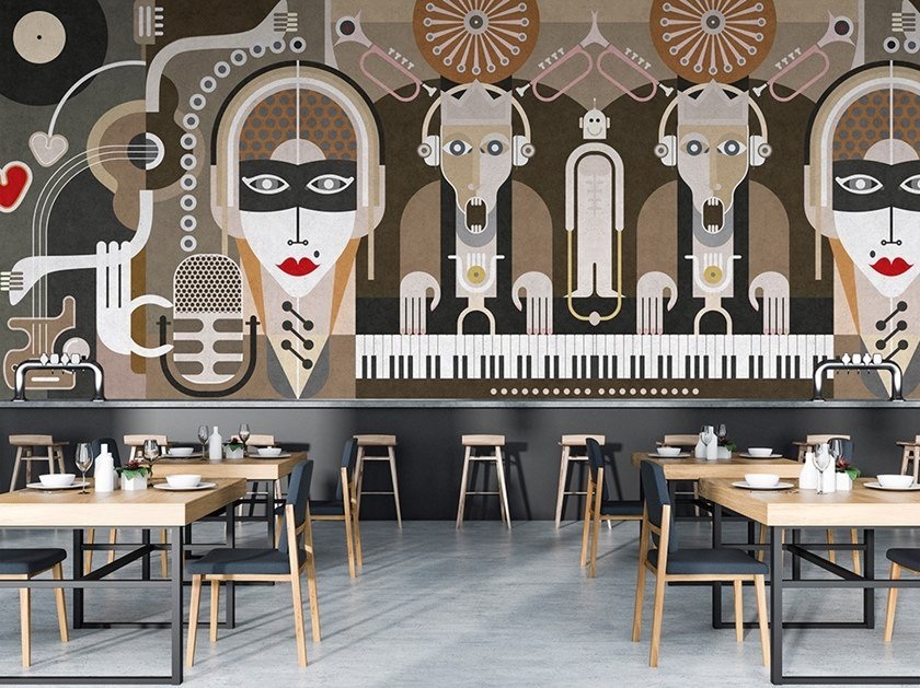 Washable Digital printing wallpaper WALL OF SOUND by Architects Paper