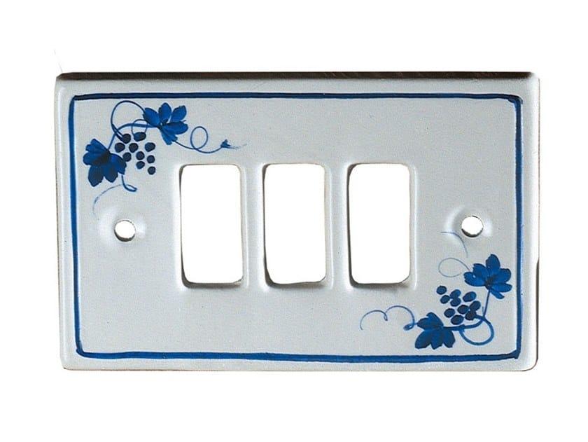 Rectangular ceramic wall plate ACCESSORI | Wall plate by FERROLUCE