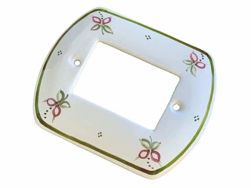 Ceramic rectangular wall plate ACCESSORI | Wall plate by FERROLUCE