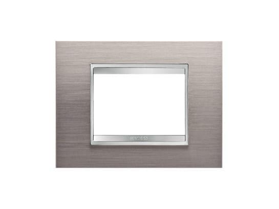 Metal wall plate LUX | Metal wall plate by GEWISS