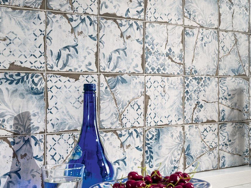Porcelain stoneware wall tiles with majolica effect COTTAGE | Wall tiles by Ceramiche Piemme