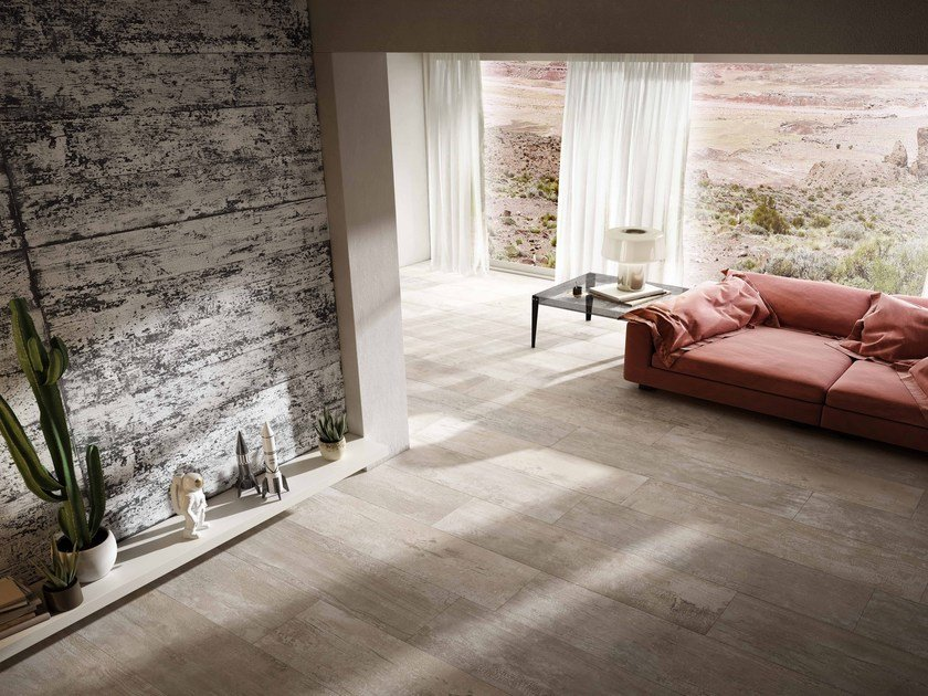 Porcelain stoneware flooring COMBUSTION CRACKLE by Iris Ceramica