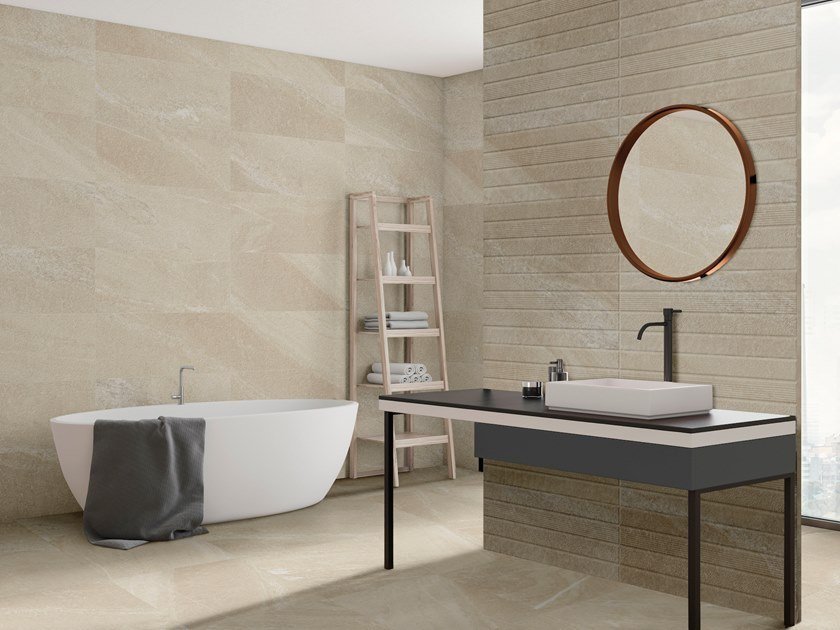White-paste wall tiles with stone effect GEO | Wall tiles by ITT Ceramic