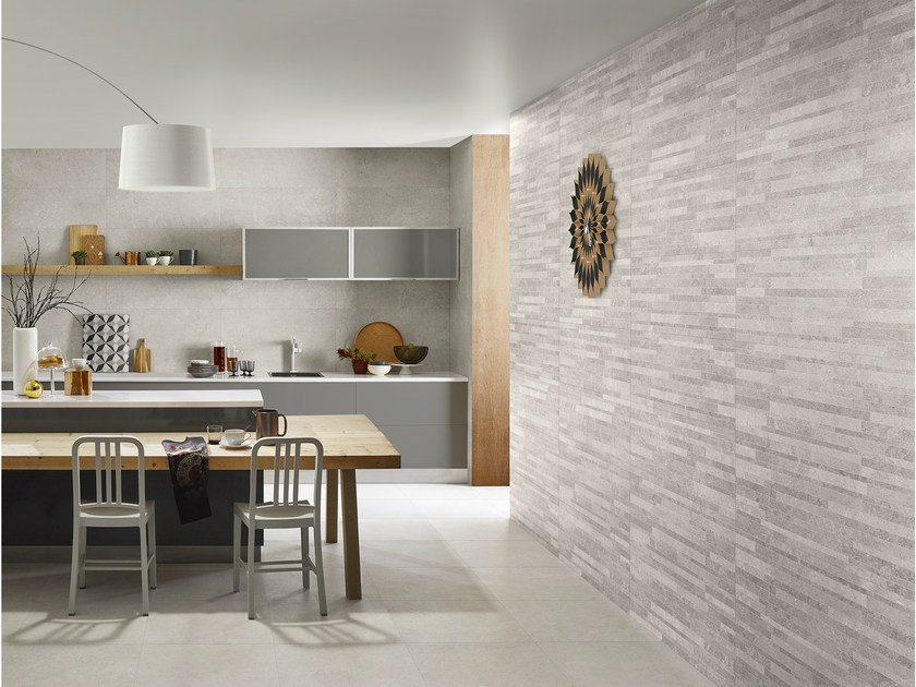 Ceramic wall tiles with stone effect nest wall tiles for Carrelage salle de bain blanc relief