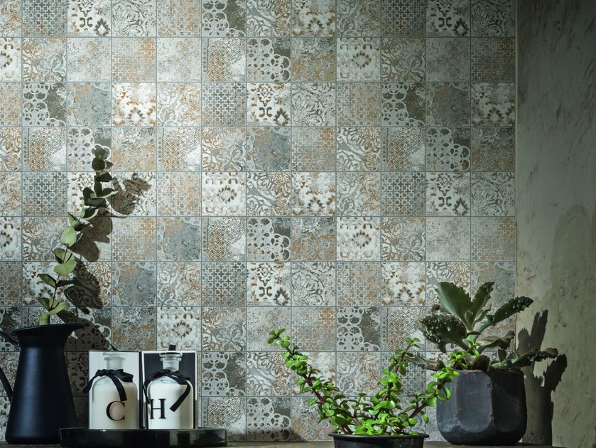 Porcelain stoneware wall tiles with concrete effect MEMENTO VINTAGE by MARAZZI