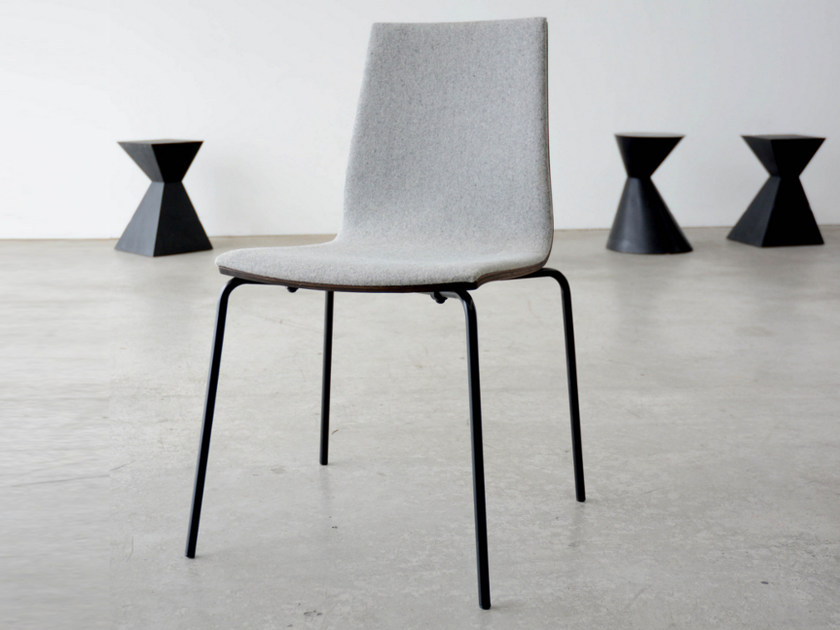 Upholstered fabric chair WALLACE | Upholstered chair by hollis+morris